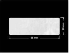 PLOMBA VOID BIAŁA POŁYSK PLASTER MIODU D-45KM prostokąt 58x20mm