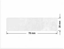 CZERWONA SATYNA VOIDOPEN A-395V3 dwa prostokąty 120x30mm-30x8mm