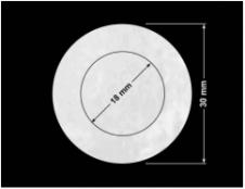 PLOMBA VOID BIAŁA POŁYSK PLASTER MIODU D-45KM kółka 2w1 30mm-18mm