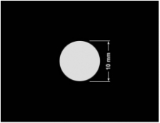 PLOMBA KRUCHA BIAŁA POŁYSK D-202 kółko 10mm