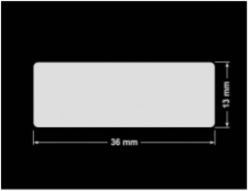 PLOMBA KRUCHA BIAŁA POŁYSK D-202 prostokąt 36x13mm