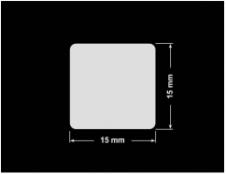 PLOMBA KRUCHA BIAŁA POŁYSK D-202 kwadrat 15x15mm