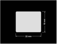 PLOMBA KRUCHA BIAŁA POŁYSK D-202 prostokąt 22x18mm