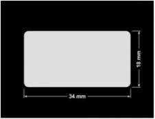 PLOMBA KRUCHA BIAŁA POŁYSK D-202 prostokąt 34x18mm