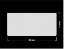 PLOMBA KRUCHA BIAŁA POŁYSK D-202 prostokąt 38x18mm