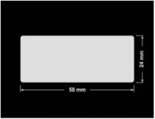 PLOMBA KRUCHA BIAŁA POŁYSK D-202 prostokąt 58x24mm