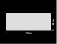 PLOMBA KRUCHA BIAŁA POŁYSK D-202 prostokąt 78x30mm