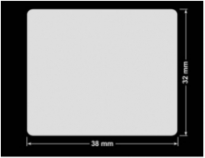 PLOMBA KRUCHA BIAŁA POŁYSK D-202 prostokąt 38x32mm
