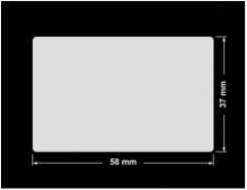 PLOMBA KRUCHA BIAŁA POŁYSK D-202 prostokąt 58x37mm