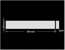 PLOMBA KRUCHA BIAŁA POŁYSK D-202 prostokąt x2 120x20mm-20x8