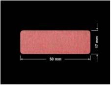 PLOMBA CZERWONA SATYNA VOIDOPEN A-395V3 prostokąt 50x17mm