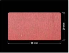 PLOMBA CZERWONA SATYNA VOIDOPEN A-395V3 prostokąt 38x20mm