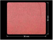 PLOMBA CZERWONA SATYNA VOIDOPEN A-395V3 prostokąt 38x32mm