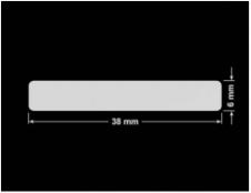 PLOMBA SREBRNA PÓŁPOŁYSK VOID T-34102 prostokąt 38x6mm