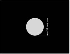 PLOMBA SREBRNA PÓŁPOŁYSK VOID T-34102 kółko 10mm