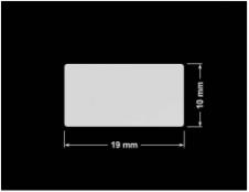PLOMBA SREBRNA PÓŁPOŁYSK VOID T-34102 prostokąt 19x10mm
