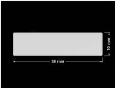 PLOMBA SREBRNA PÓŁPOŁYSK VOID T-34102 prostokąt 38x10mm