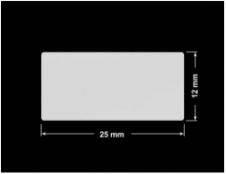 PLOMBA SREBRNA PÓŁPOŁYSK VOID T-34102 prostokąt 25x12mm