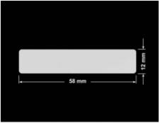 PLOMBA SREBRNA PÓŁPOŁYSK VOID T-34102 prostokąt 58x12mm