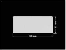 PLOMBA SREBRNA PÓŁPOŁYSK VOID T-34102 prostokąt 30x13mm