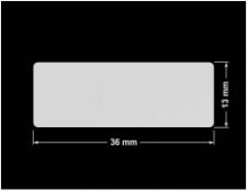 PLOMBA SREBRNA PÓŁPOŁYSK VOID T-34102 prostokąt 36x13mm