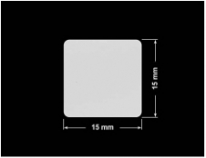 PLOMBA SREBRNA PÓŁPOŁYSK VOID T-34102 kwadrat 15x15mm