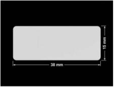 PLOMBA SREBRNA PÓŁPOŁYSK VOID T-34102 prostokąt 38x15mm