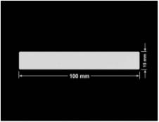 PLOMBA SREBRNA PÓŁPOŁYSK VOID T-34102 prostokąt 100x15mm