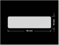 PLOMBA SREBRNA PÓŁPOŁYSK VOID T-34102 prostokąt 58x16mm