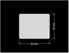 PLOMBA SREBRNA PÓŁPOŁYSK VOID T-34102 prostokąt 22x18mm