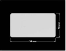 PLOMBA SREBRNA PÓŁPOŁYSK VOID T-34102 prostokąt 34x18mm