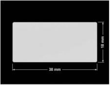 PLOMBA SREBRNA PÓŁPOŁYSK VOID T-34102 prostokąt 38x18mm