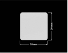 PLOMBA SREBRNA PÓŁPOŁYSK VOID T-34102 kwadrat 20x20mm