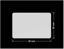 PLOMBA SREBRNA PÓŁPOŁYSK VOID T-34102 prostokąt 30x20mm