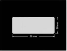 PLOMBA SREBRNA PÓŁPOŁYSK VOID T-34102 prostokąt 50x20mm