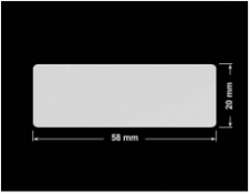 PLOMBA SREBRNA PÓŁPOŁYSK VOID T-34102 prostokąt 58x20mm