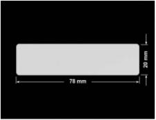 PLOMBA SREBRNA PÓŁPOŁYSK VOID T-34102 prostokąt 78x20mm