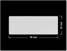 PLOMBA SREBRNA PÓŁPOŁYSK VOID T-34102 prostokąt 58x22mm