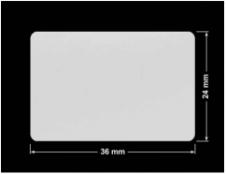 PLOMBA SREBRNA PÓŁPOŁYSK VOID T-34102 prostokąt 36x24mm