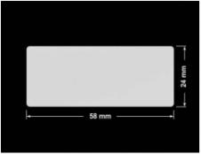 PLOMBA SREBRNA PÓŁPOŁYSK VOID T-34102 prostokąt 58x24mm