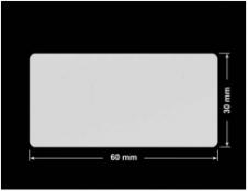 PLOMBA SREBRNA PÓŁPOŁYSK VOID T-34102 prostokąt 60x30mm