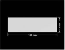 PLOMBA SREBRNA PÓŁPOŁYSK VOID T-34102 prostokąt 100x30mm