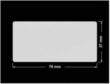 PLOMBA SREBRNA PÓŁPOŁYSK VOID T-34102 prostokąt 76x37mm