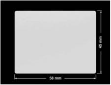 PLOMBA SREBRNA PÓŁPOŁYSK VOID T-34102 prostokąt 58x45mm