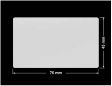 PLOMBA SREBRNA PÓŁPOŁYSK VOID T-34102 prostokąt 76x45mm