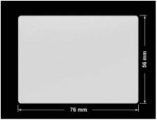 PLOMBA SREBRNA PÓŁPOŁYSK VOID T-34102 prostokąt 76x56mm