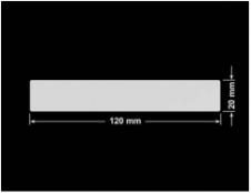 PLOMBA SREBRNA PÓŁPOŁYSK VOID T-34102 prostokąt 120x20mm