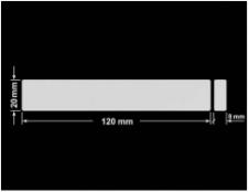 PLOMBA SREBRNA PÓŁPOŁYSK VOID T-34102 prostokąt x2 120x20mm-20x8