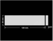 PLOMBA SREBRNA PÓŁPOŁYSK VOID T-34102 prostokąt x2 120x30mm-30x8