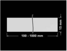 PLOMBA SREBRNA PÓŁPOŁYSK VOID T-34102 banderola 100x15mm